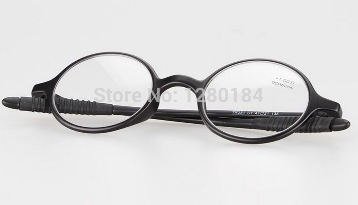Free Shipping Reading Glasses Computer Glasse Black Round Flexible+1.00 +1.50 +2.00 +2.50 +3.00(China (Mainland))