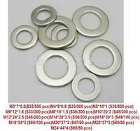 Free shipping  316 stainless steel flat pad. Flat gasket. Washers M3-4-5-6-8-10-12-24