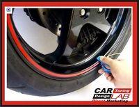 "1/4\"" RED  Reflective MOTORCYCLE Wheel Rim Pin Stripe PINSTRIPING TAPE STICKER"