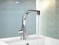 e-pak L8453-2/1 Free Shipping Hot Sale Good Quality Deck Mounted Single Handle Chrome Bathroom Basin Mixer Tap Basin Faucet