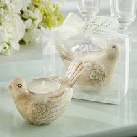 """NEW ARRIVAL Unqiue Wedding Favors""""Song Bird"""" Tealight Candle Holder Lovely Bird Tealight Holder Favors+100pcs/lot+FREE SHIPPING"""