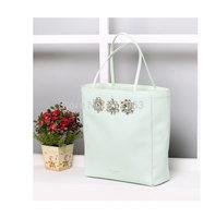 Senior Custom GEMMINA Jewelled shopper bag TED Diamante canvas /pu leather  shopper bags lady fashion shouler bags