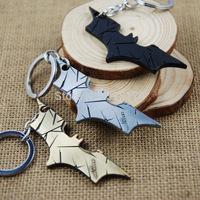 10pcs /lot  The Bat Man Movie Theme Metal Batman Keychains Alloy Key Chains Birthday Gifts Christmas Present Free shinpping