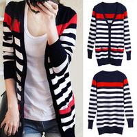 New special long streaks cardigan women, autumn skinny thin sweaters, cardigan sweater coat, fashion garment.free shipping