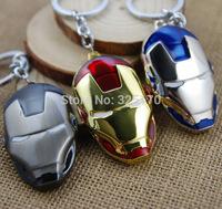 10pcs/lot Marvel Super Hero Iron Man Keychains Key Chain Metal Pendants Key Ring Free Shipping