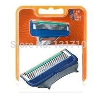 2014 New  Razor Blades high Quality Shaving razor blade for men  5 Blade System Sharpener Shaver  Portable 4pcs/lot