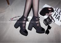 Size 34-39 GZ shoes woman 2014 women pumps platform punk boots fashion star style platform shoes woman brand black heels 9cm