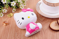 BRAND NEW 100pcs/lot 11000mAh USB Portable Battery Pack Power Bank Hello Kitty 3D Cartoon Design For iPhone and Samsung Galaxy