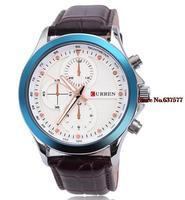 new fashion mens watches top brand curren watch men luxury quartz leather strap  wristwatches