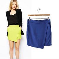 2014 Summer Women short pants Culottes Shorts Demin shorts Asymmetrical Geometric Shape Tiered Shorts