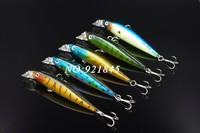 Hot sale! 5 Pieces Mix Colors Fishing Lures Crankbait Minnow Hooks Crank Baits 10cm 10.1g Free Shipping