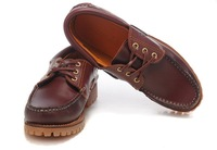 Free shipping 2014  in the spring and autumn summer season  senior Casual  boat shoes waterproof leather and rubber soles shoes