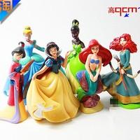 princess Ariel Cinderella Snow White PVC FIGURE 6PCS/SET