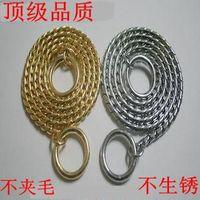 Rustless Cu Cr Alloy Training Race Dog Collars Snake P Choke Metal Chain Collar Not Clip Pet Hair 35cm-75cm Length 4.5mm Width