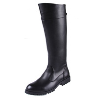 Male boots police boots riding  high-leg world war ii field  equestrian man tall boots
