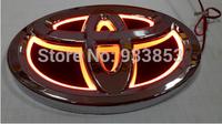 Toyota 5D LOGO / Auto LED Mark Car Rear Badge Light Single Colour For Land cruiser / Alrhard / EZ Size:14cm(W) X 10cm(H)