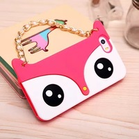 Newest fox handbag silicon Case for iphone 5G 5s fox bags cell phone case Free shipping
