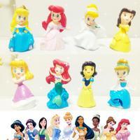 8 pcs / lot mermaid Ariel, Snow White, Belle, Cinderella 8 cute little princess figure keychain