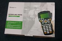 Free shipping Portable ribbon printer cable id printer, H12 handheld bar code label printer machine, label printers
