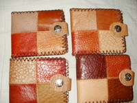 Leather wallet card holder package of documents