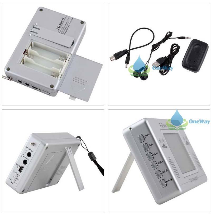 oneway Protable Wireless 2.4 LCD Screen Display Mini TV FM Radio Television High Quality(China (Mainland))