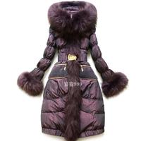 Royal purple for cat design high quality long slim down coat