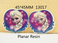 50Y13017 Free Shipping 45*45mm flat back resin cartoon pattern diy holiday decoration craft scrapbooking 50pcs/lot