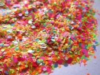 Matte Neon Solvent Resistant Glitter Mix Nail Polish Glitter Mix for Nail Polish Frankening Scrapbooking