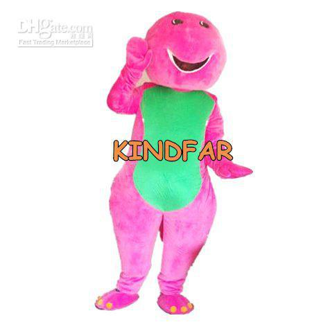 Hot sale 2014 Adult Mascot Costume Barney Adult Cartoon Fancy Sexy Halloween Dress Party Outfits Ideas(China (Mainland))
