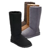 FREE SHIPPING Warm Genuine Leather AUSTRALIAN platform snow boot WOMEN 5815# SHEEPSKIN Classic Tall SNOW BOOTS FOR GIRLS