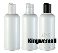 free shipping  300pcs/lot Capacity 220ml Shampoo Lotion Water Empty White bottle PET  Bottles with Press  Cap