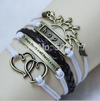 DHL Free shipping to USA100pcs/lot Hot European men bracelet leather