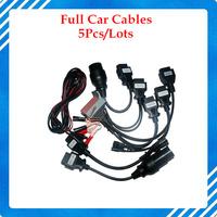 FULL SET OF 8 pcs Car Cables For TCS PRO OBD II 2 Diagnostic Tool 5 pcs a lot by DHL