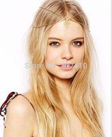 Free shipping! HA658 Fashion vintage metal rhombic headband hair chain hair accessories  wholesale