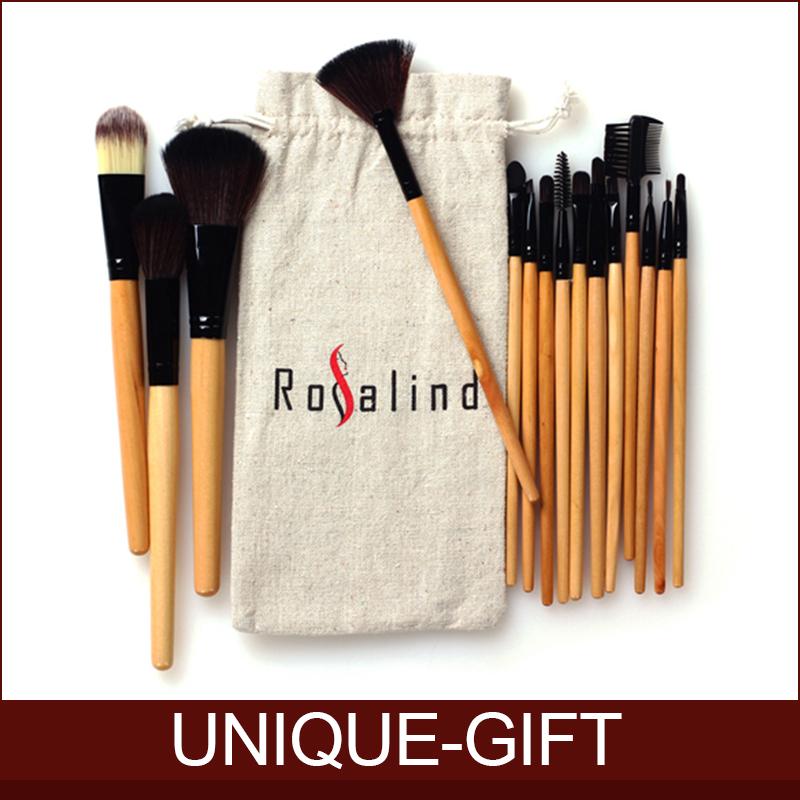 Rosalind New 2014 Makeup 15 Pcs Soft Synthetic Hair Make up tools kit Cosmetic Beauty Makeup Brush With Drawstring Bag(China (Mainland))
