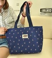 New 2014 canvas bag printed blue flowers one shoulder bag fashion leisure women messenger bags,BAG153