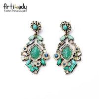 Artilady Brand Brincos Vintage Snowflake Crystal Droping Seascape earrings Bijoux Women jewelry 2014 new fashion