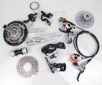 2014 Deore XT Groupset Rear Derailleur 42-32-24T 170mm 3x10 Spd Cranks Fixed Gear Bike Crankset & Bottom Bracket&Cassette&Chain