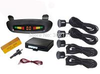 LED rainbow display radar reverse parking sensor system in car reversing aid
