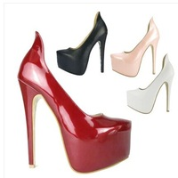 2014 Brand New Women's   Platform 16 CM Ultra High Heel Pumps/Sexy Snake Pointed Toe Women Party Dress Shoes Free Shipping