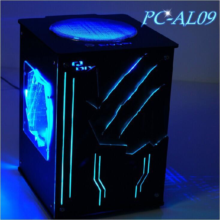 New Arrival QDIY PC-AL09 MicroATX / Mini-ITX DIY Vertical Air Duct Acrylic Desktop Mini Tower Computer Case(China (Mainland))