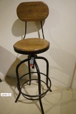 country americana minimalista escritório cadeiras de recepção, tamborete de barra de ferro forjado madeira cadeira de bar bar cadeira giratória presidente(China (Mainland))