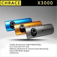"2.7""140 Dual Lens car camera vehicle blackbox X3000 car DVR video recorder+G-Sensor gps logger"