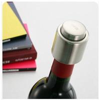 New  Stainless Steel Vacuum Sealed  beer Wine Bottle Stopper cap, keep fresh  bar accessories retail & wholesale