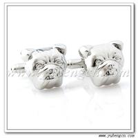 Free shipping YH-1709 Novelty Silver Bulldog Animal Cufflinks - Factory Direct Selling