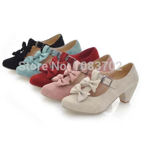 219e0b82495 Wholesale-Hot Sale Women Genuine Leather Office Shoes Classic Plain Cow  Leather Low Heeled Women Pumps Elegant Ladies Office Heels Size 41