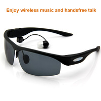 Free Shipping Handsfree Bluetooth Sunglasses With Hifi Headphone, Fashion Design For Men/ Women, Use for Iphone, Samaung, HTC