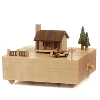 Jack and Jill music box log cabin Movement music box gifts for lover birthday gift