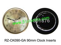 MIni clock inserts/90mm clock inserts/Plastic clock inserts/clock fit-ups RZ-CK090-GA