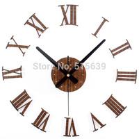 Retro DIY Wall Clocks 3D Roman Stickers Home Decor Art Watches Modern Art Time